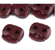 Brzdičky s dvoma dierkami 15x15 mm - bordó