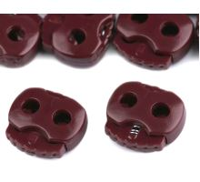 Two-holes brakes 15x15 mm - bordo