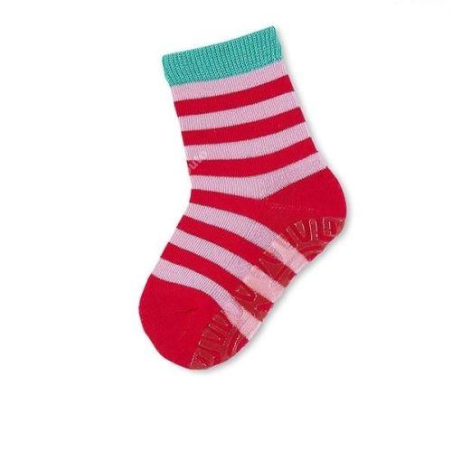 Protišmykové ponožky Sterntaler - Ringel paprikarot (29-34)