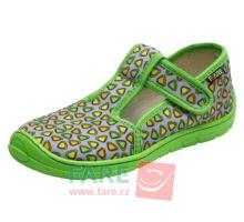 Fare Bare 5102462 papuče zip Green
